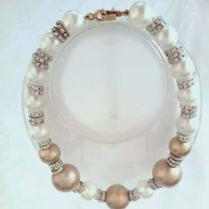Kenneth Jay Lane Crystal and Faux Pearl Beaded #11